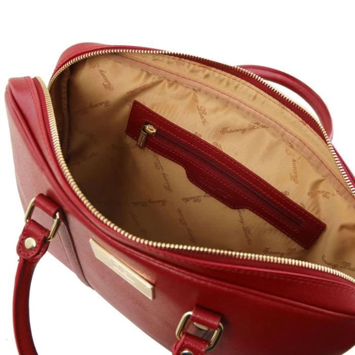 Tuscany Leather - Cartables en cuir - Prato - Rouge (TL141626)
