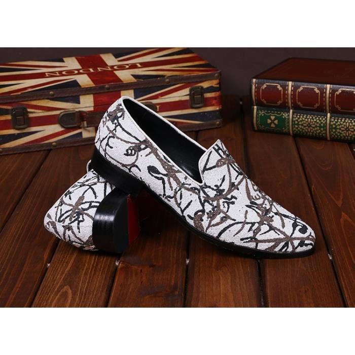 Nouveau haut de gamme Art Graffiti Hommes Chaussures Luxe Mode Hommes Mocassins Flats Hommes Taille