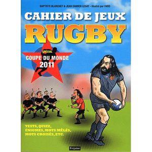 LIVRE JEUX ACTIVITÉS Cahier de jeux rugby
