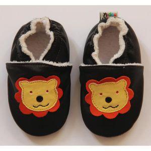 Chaussons en Cuir Souple Taille 18-24 Mois panda fourrés wYZWttfR1G