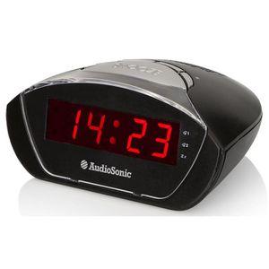 Radio réveil AUDIOSONIC CL-1458 Radio réveil - Affichage rouge