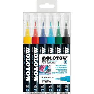 JEU DE PEINTURE Set De 6 Marqueurs Molotow Grafx Aqua Ink ...