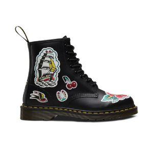 BOTTINE Boot Dr Martens 1460 Tattoo Chris Lambert Noir