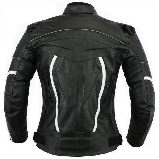 s Biker En Lj5w Protection Moto Veste Ventilé Cuir 3j993y Taille Hommes vTqwf4f