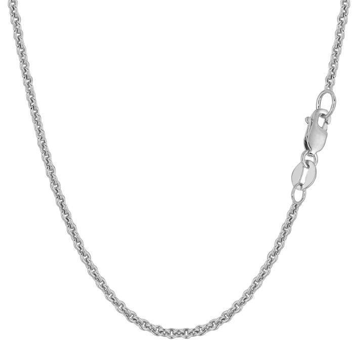 Chaîne- 14k or blanc Forsantina , 2,3 mm, 16