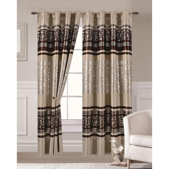 rideaux occultant 140 x 260 cm avec motif achat vente rideaux occultant 140 x 260 cm avec. Black Bedroom Furniture Sets. Home Design Ideas