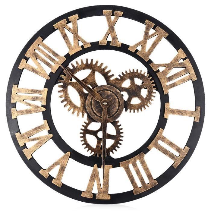 Horloge murale engrenage achat vente horloge murale for Grande horloge murale pas cher