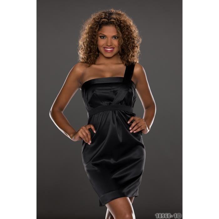 Robe de soiree noire femme
