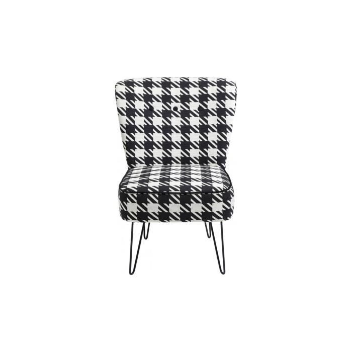 fauteuil pied de poule florida pepita kare design achat vente fauteuil cdiscount. Black Bedroom Furniture Sets. Home Design Ideas