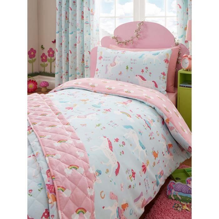 licorne magique 4 en 1 junior literie bundle couette oreillers et couvertures achat vente
