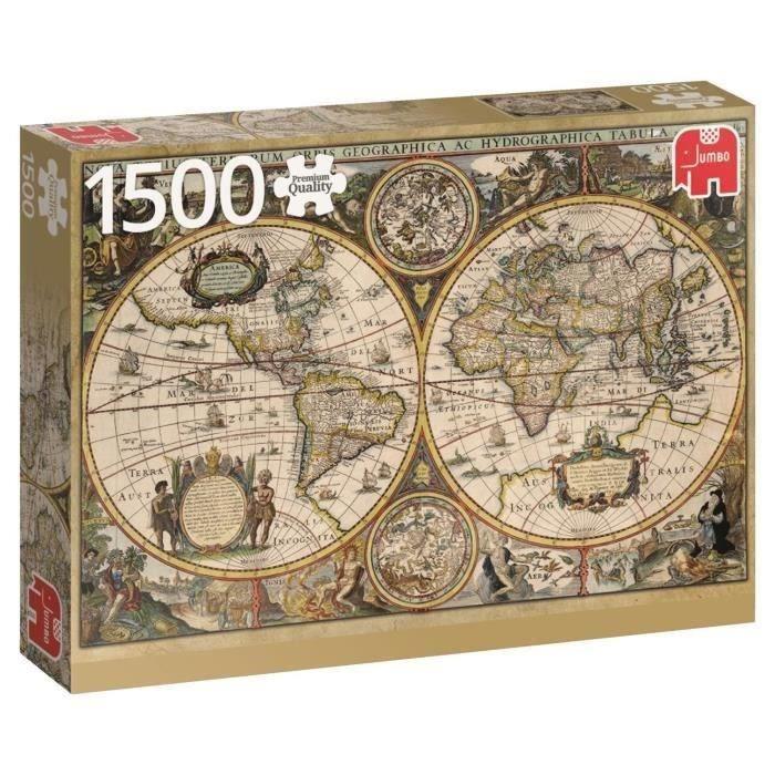Extrêmement Puzzle carte du monde - Achat / Vente Puzzle carte du monde pas  UY25