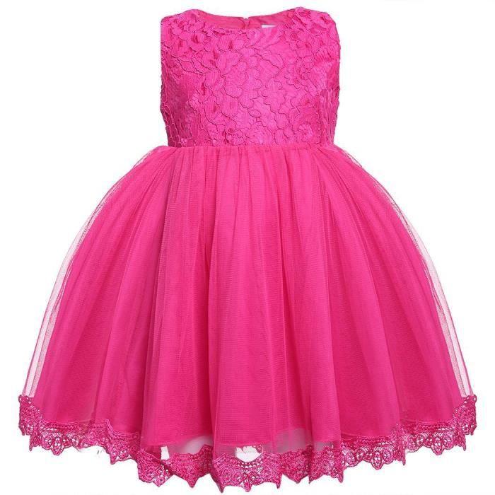 742234620ab54 robe enfants filles Cute sans manches maille dentelle fête Tutu bulle de  mariée