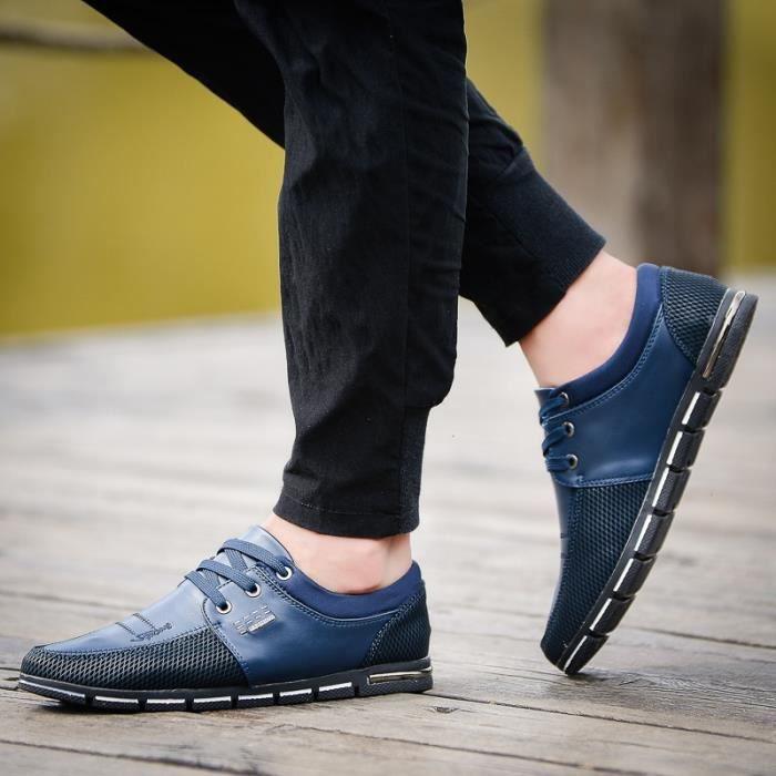 Mode d'été Hommes Chaussures de toile Respirant Chaussures Hommes Casual Mocassins Chaussures confortables Ultraléger Lazy zkBvSY9aXZ