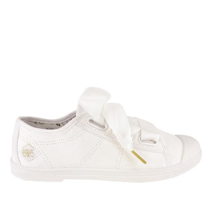 Le Temps des Cerises Basket  Basic 02 Lace Blanc - Livraison Gratuite avec  - Chaussures Baskets basses Femme