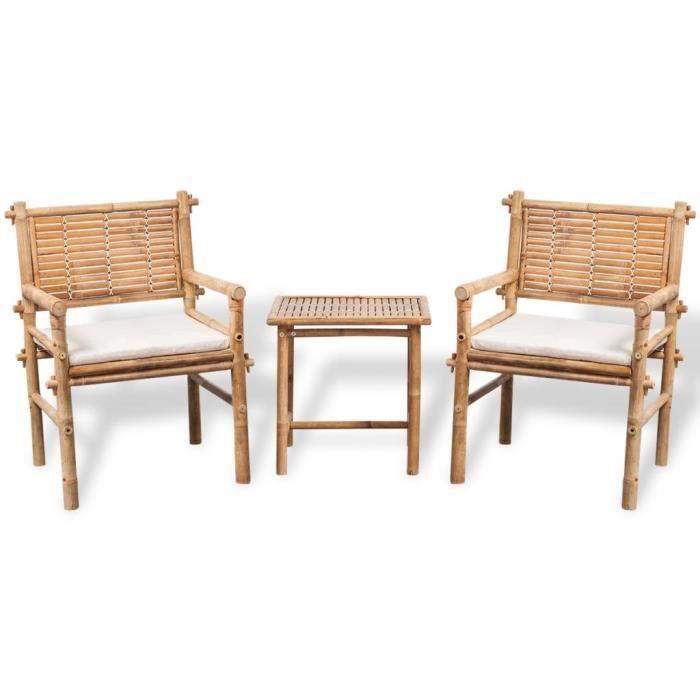 Salon De Jardin Bambou Achat Vente Pas Cher