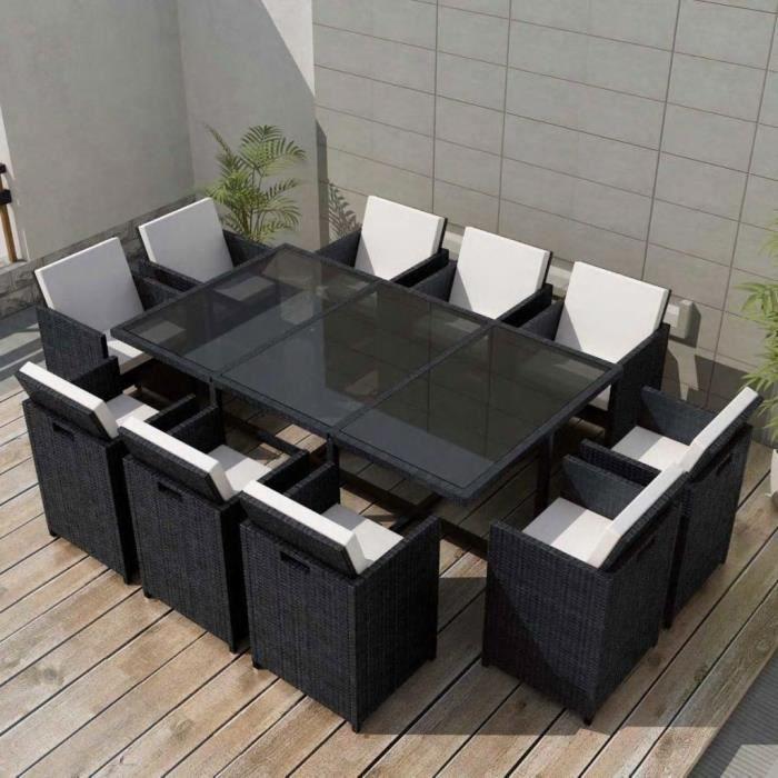 Jeu de mobilier de jardin 31 pcs Ensemble table chaise faute ...