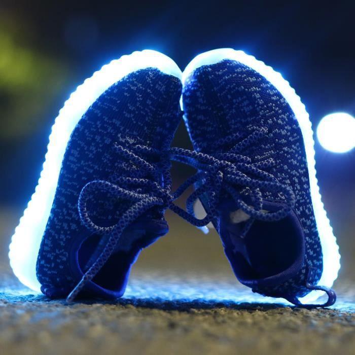 Baskets enfants LED chaussures USB Charge Éclairage LED Mode Coloré Glow Chaussures pour garçons ou fille
