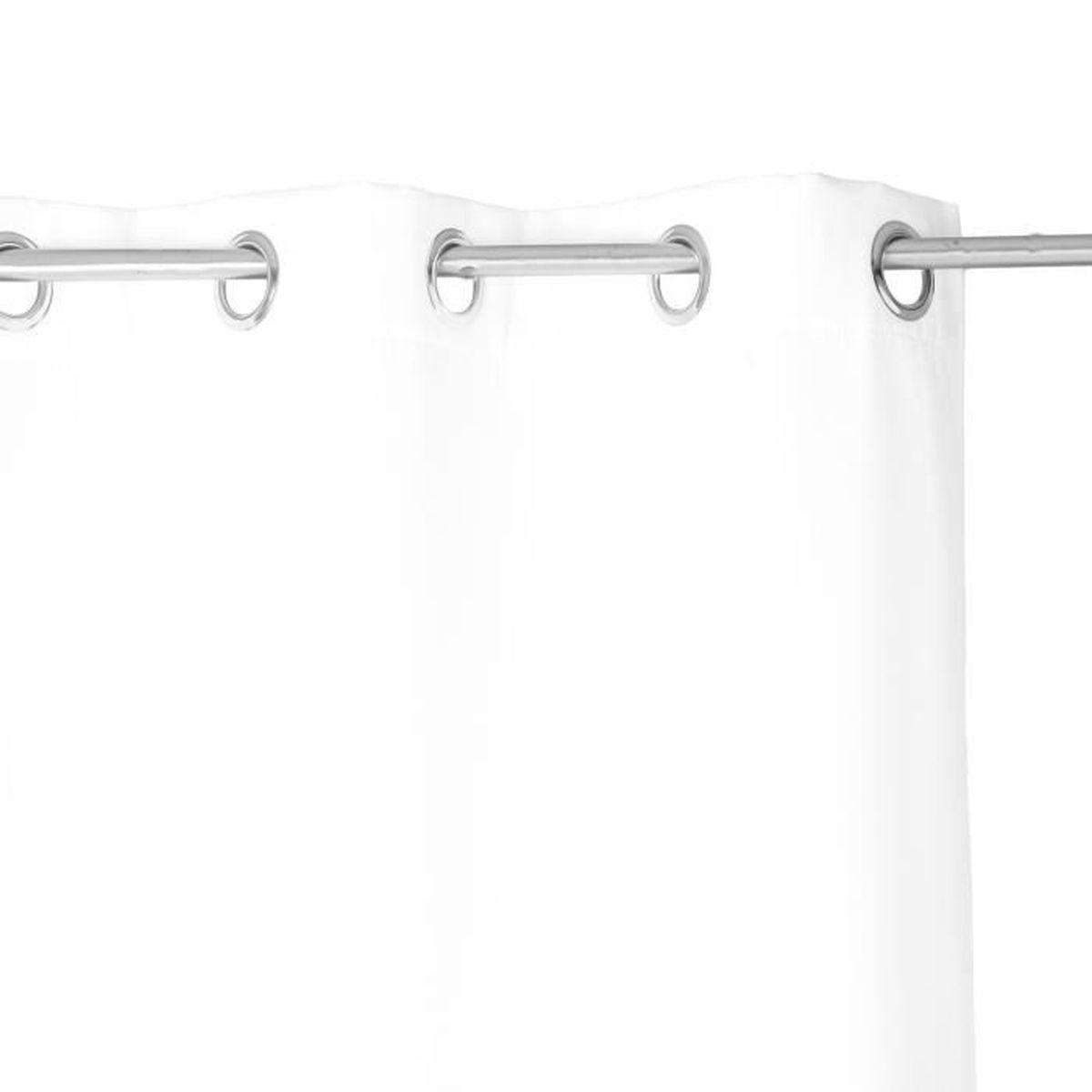 rideau isolant 140 x 260 cm polyester ivoire achat vente rideau cdiscount. Black Bedroom Furniture Sets. Home Design Ideas