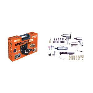 REVOLUTION'AIR Kit 4 outils et 30 accessoires pneumatiques pour compresseur d'air