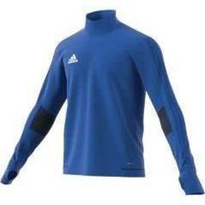 ADIDAS Tiro 17 T-shirt d'entrainement - Manches longues - Bleu / Bleu foncé / Blanc