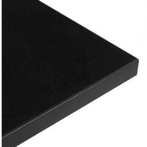 PLATEAU DE TABLE Plateau de table LEA carré en bois stratifié (noir