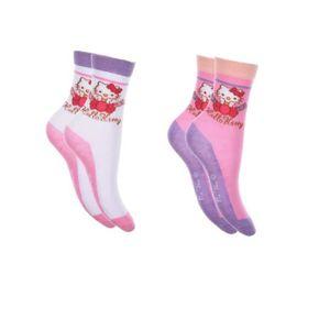 CHAUSSETTES 2 paires de chaussettes fille 31/34 HELLO KITTY