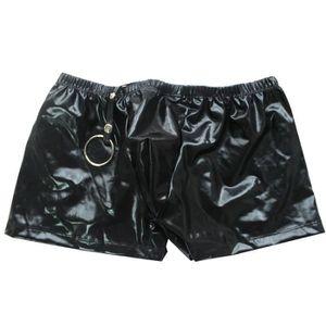 BOXER - SHORTY Boxer Homme Sexy Anneau de Penis Sous-vêtement Lin