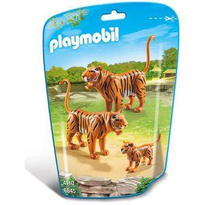 UNIVERS MINIATURE PLAYMOBIL 6645 - Le Zoo - Couple de Tigres avec Bé