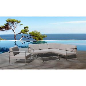 Salon de jardin Swithome Saint-Tropez Alu / Gris - Achat ...