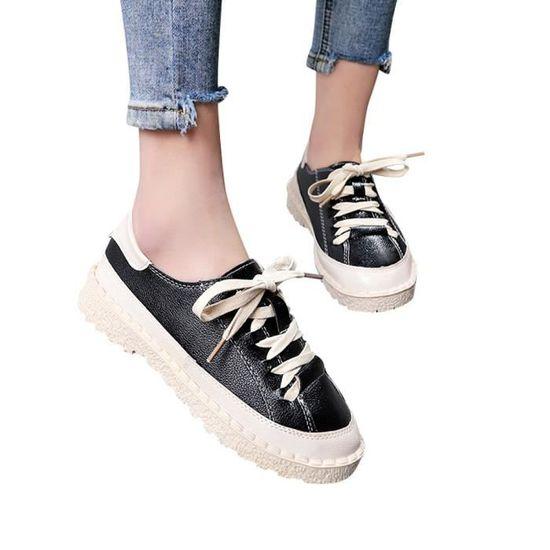 Cheville Bottines Chaussures Bottes À Lacets Femme Cuir Plat Sport txhrCosQBd