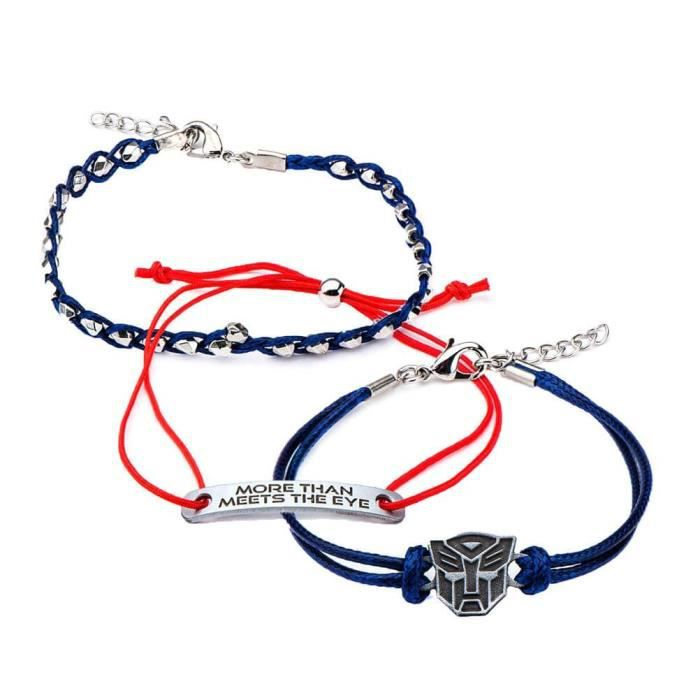 Official Licensed Transformers Autobot Character Arm Party Bracelet Set Of Three