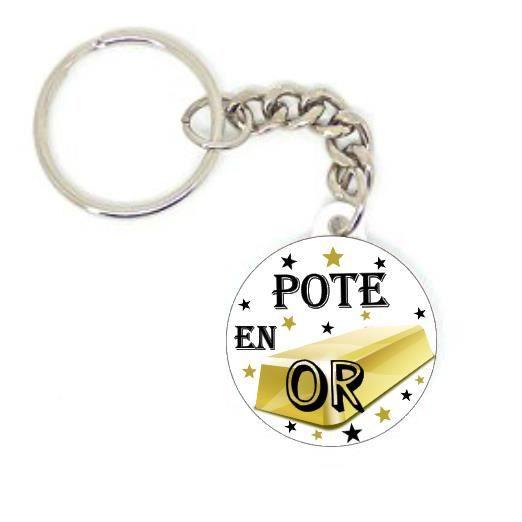 Idee Cadeau Pote.Porte Clé Badge Pote En Or Idée Cadeaux Original Personnalisé Copain Ami Amies