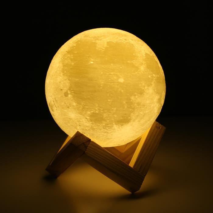 LAMPE A POSER Lampe de Lune 15CM  - Lune imprimée en 3D - Meille