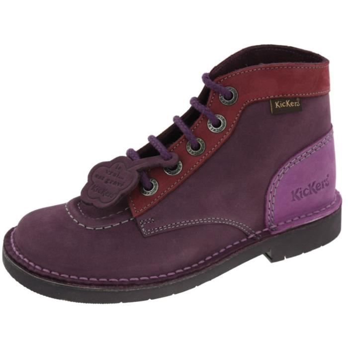 bcce06814e9aac Chaussures Kickers Kick Col violet lilas Violet Violet lilas - Achat ...