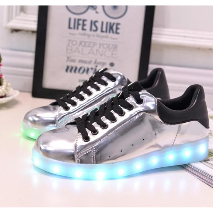 Uniisex LED color es Chaussures Lumi res Lovers Skate