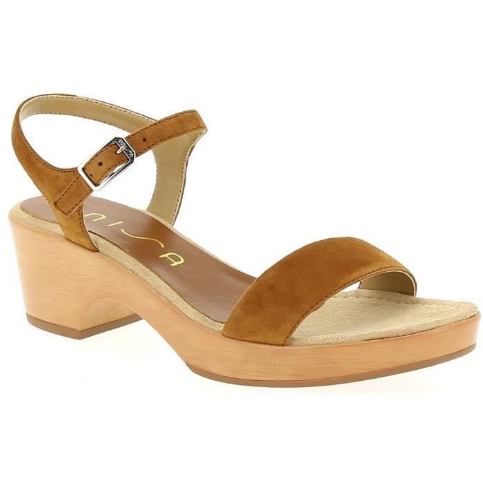 09c06f8219443 Sandales et nu-pieds - UNISA IRITA Cognac - Achat   Vente sandale ...