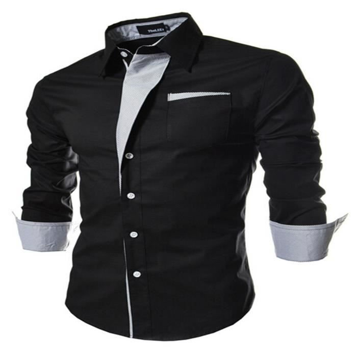 chemise homme Slim Maigre haut homme epaule nues qualité supérieure  vetements hommes vetement homme grande taille Plus Taille M-XXXL 9de71b3f6b97