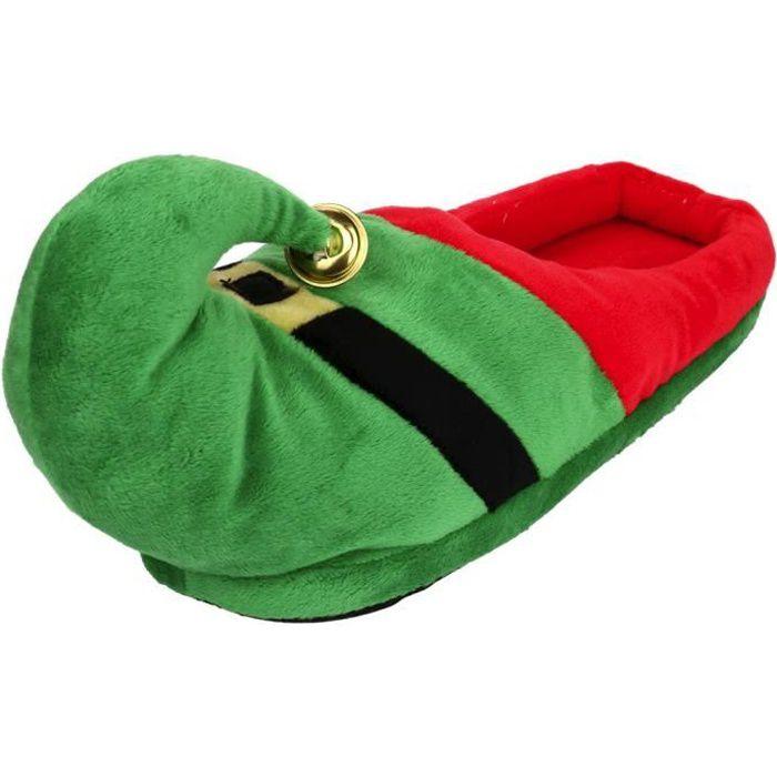 Pantoufles Femmes Hommes En Peluche Hiver Noël Adulte Chaussons Doux Et Chauds Nouvelle Mode Zx-xz136vert