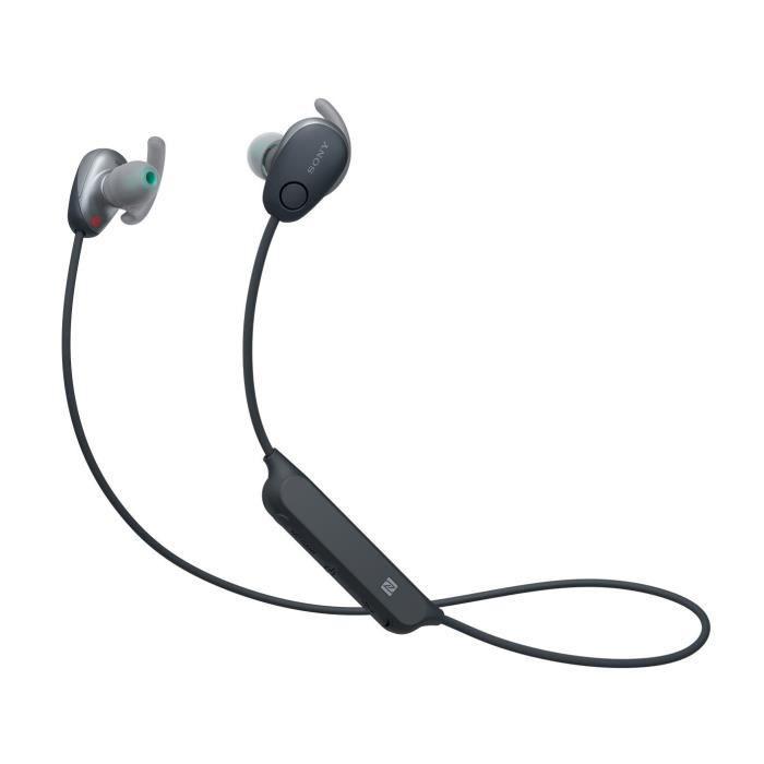 Sony Wi-sp600nb, Intraaural, Écouteur, Sans Fil, 20 - 20000 Hz, 0,5 M, Noir