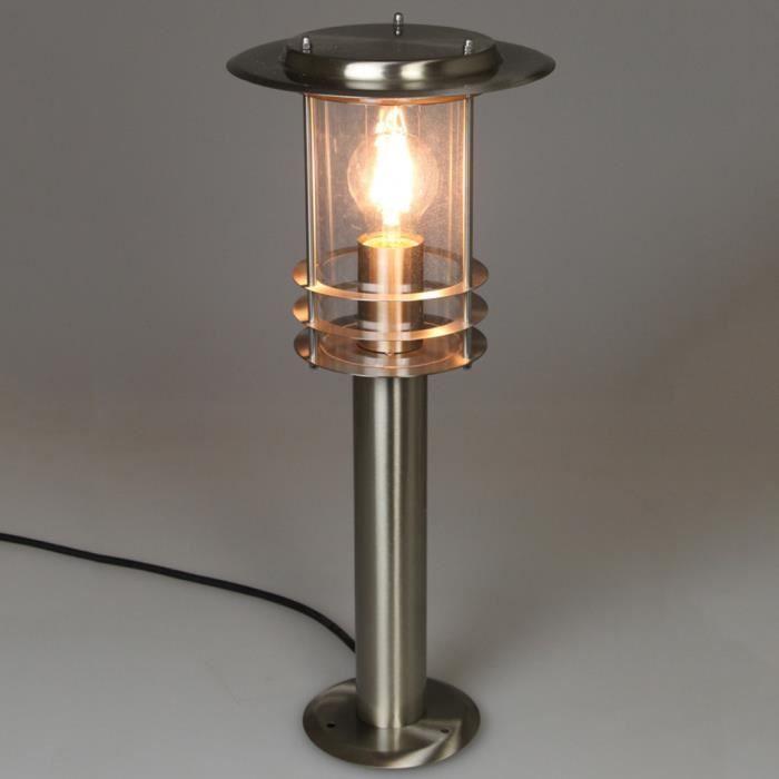 Eclairage D Allees Lampe D Exterieur Phoenix Argente Lux1707s