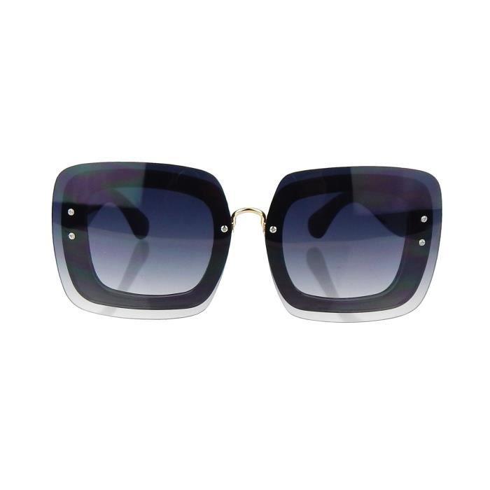99bc866a4187b2 ... gris UV noir 400 mode nouveau par style carré Jonte Lunettes soleil de  Ella ZxEnqfRBFw ...