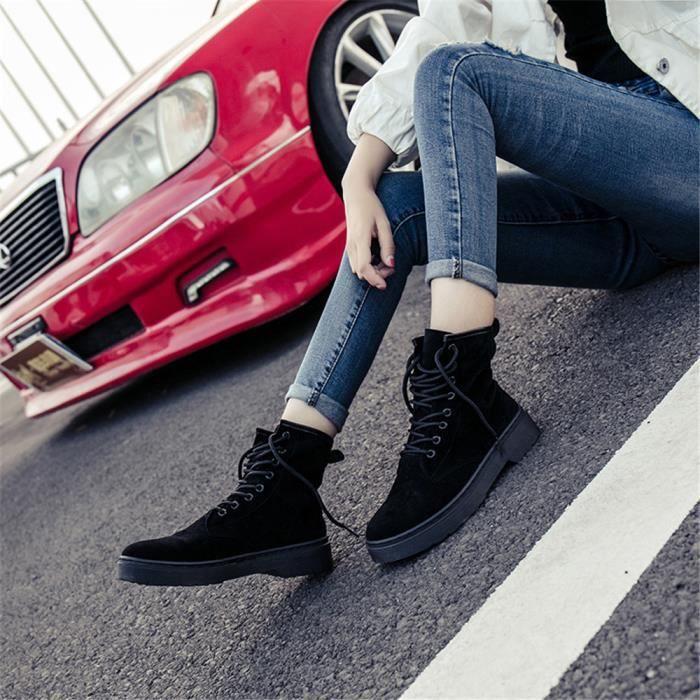 mi-bottes femmes Beau Extravagant Haut qualité bottines femme Chaud Hiver Chaussures pour Femmes personnalitédssx403noir40