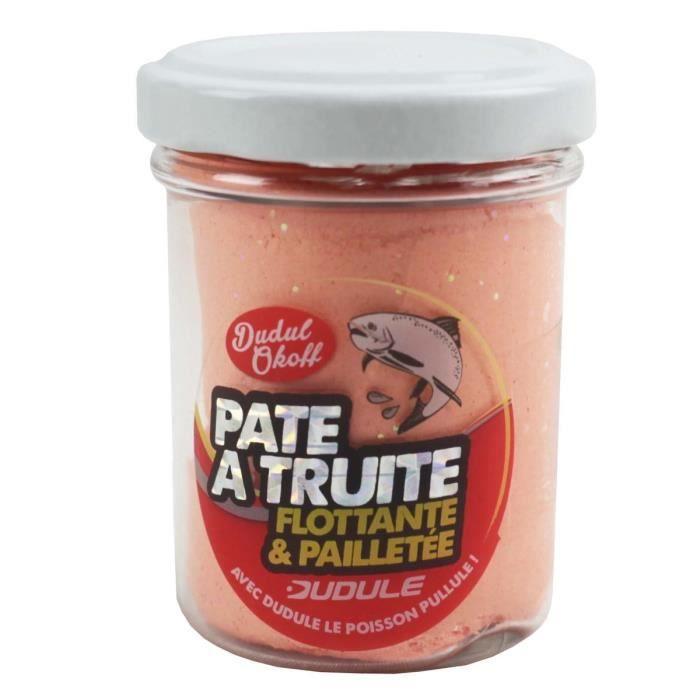 DUDULE Pate à Truite Flottante Pailletee Saumon