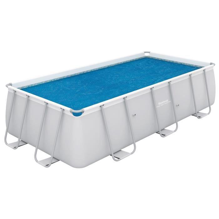 BESTWAY Bâche solaire pour Power Steel Frame Pools 282x196x84cm - 260x180cm