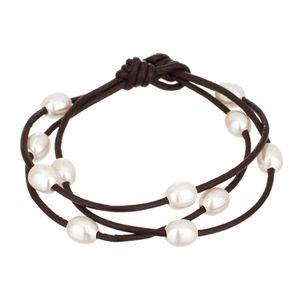 SAUTOIR ET COLLIER NACRE DE PERLE Bracelet Femme