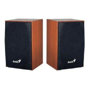 GENIUS Haut parleurs HP SP HF 160 - USB - 4 Watts - Marron - PC / Mac / Smartphone / Tablette / Lecteur MP3 et CD