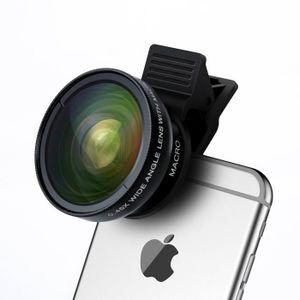 PACK APPAREIL RÉFLEX 2 en 1 Kit de Lentille de Caméra Objectifs HD 0.45