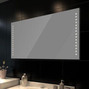 Miroir salle de bain avec eclairage 60 cm - Achat / Vente pas cher