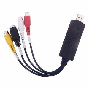 CARTE D'ACQUISITION  kingwing® Black USB 2,0 Video capture Card Convert