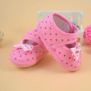 BOTTE Bottes bébé bowknot Chaussures Crib souple @Rose